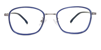 98010 Aman Rectangle blue glasses