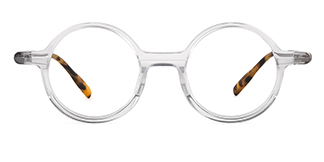 98031 Annamaria Round clear glasses