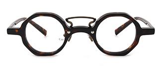 98035 Angy Geometric tortoiseshell glasses