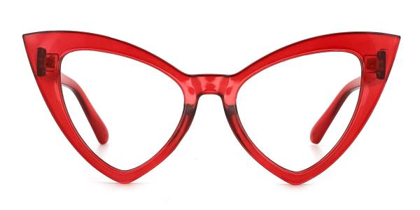 98044 dominic Cateye red glasses