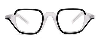 98216 Angelinea Geometric white glasses