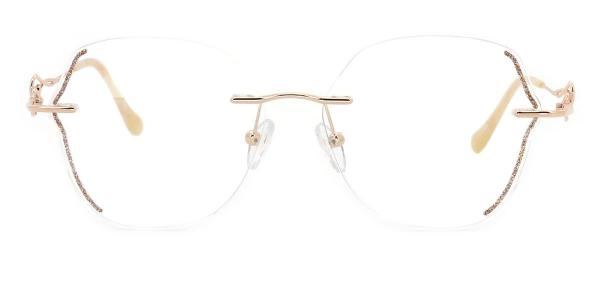 98270 Anna Geometric gold glasses