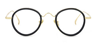 99015 Adamma Round black glasses
