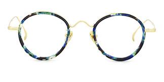 99015 Adamma Round floral glasses