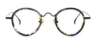 99015 Adamma Round tortoiseshell glasses