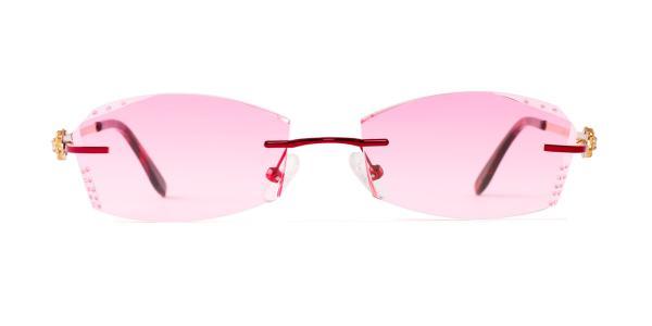 A-1004 Edie Geometric red glasses