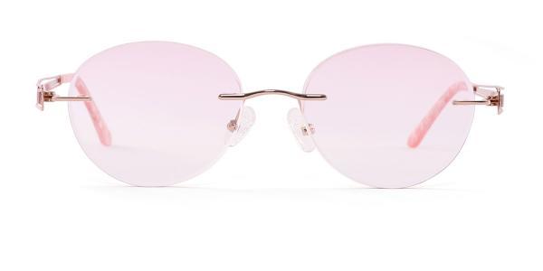 A-1038 Caren Oval purple glasses