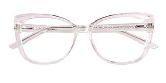 A-2001 Kacie Rectangle,Oval clear glasses