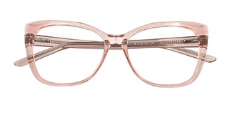 A-2001 Kacie Rectangle,Oval pink glasses