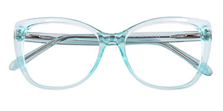 A-2005 Wenona Rectangle,Oval blue glasses