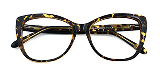 A-2005 Wenona Rectangle,Oval tortoiseshell glasses