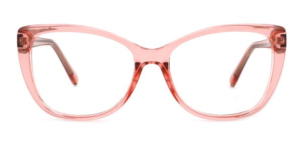 A-2005 Wenona Rectangle pink glasses