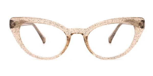 A-2012 Lexie Cateye brown glasses