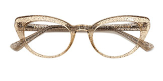 A-2012 Lexie Cateye brown glasses