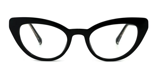 A-2012 Lexie Cateye black glasses