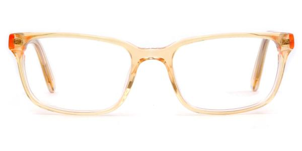 A-2100 Raleigh Rectangle yellow glasses