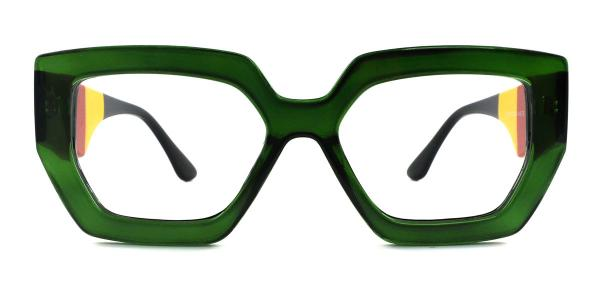 A-2119 Jacqueline Geometric green glasses