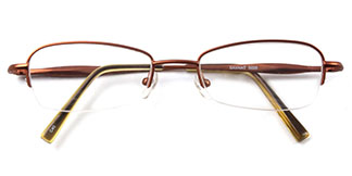 A-5028 Shane Rectangle brown glasses
