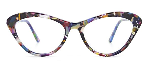 A02 Joana Cateye floral glasses