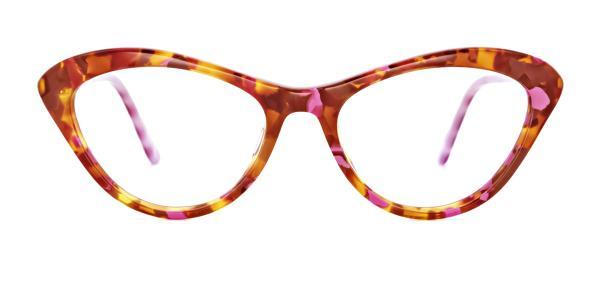 A02 Joana Cateye red glasses