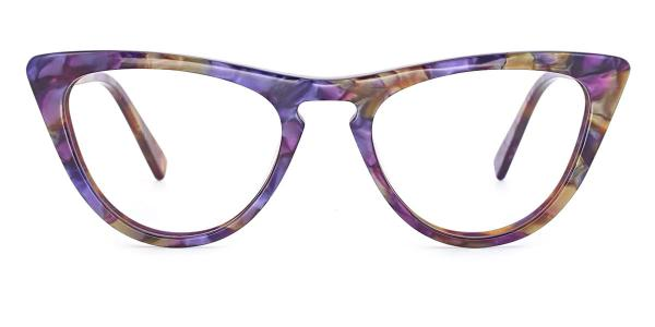 A05 Mary Cateye purple glasses