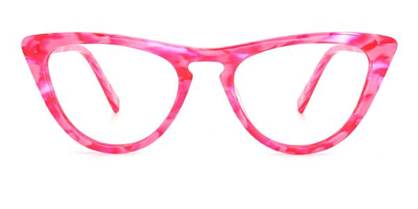 A05 Mary Cateye red glasses