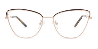 A1043 Kylie Cateye brown glasses