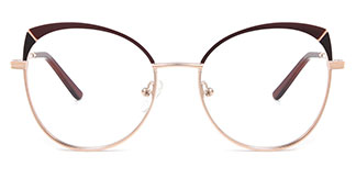 A4001 Katherine Cateye brown glasses