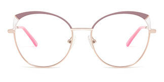 A4001 Katherine Cateye red glasses