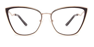 A4006 Makayla Cateye brown glasses
