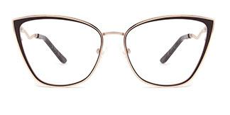 A4006 Makayla Cateye brown glasses