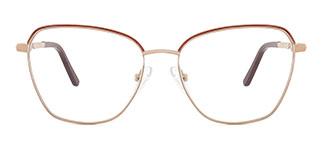 A4008 CassieCatherine Cateye orange glasses