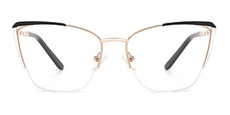 A4009 Abigil Cateye black glasses