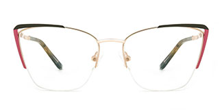 A4009 Abigil Cateye brown glasses