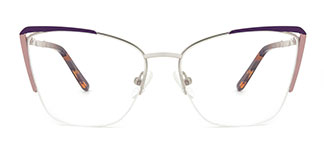 A4009 Abigil Cateye purple glasses