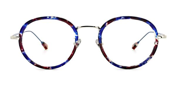 AB9011 Kelsie Round blue glasses