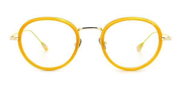 AB9011 Kelsie Round orange glasses