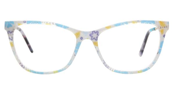 AM16 Kimmy Cateye,Butterfly blue glasses