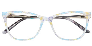 AM16 Kimmy Rectangle,Butterfly blue glasses