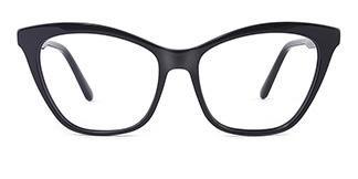 B2926 melissa Cateye black glasses
