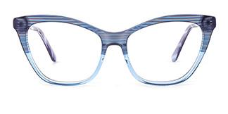 B2926 melissa Cateye blue glasses