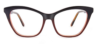 B2926 melissa Cateye brown glasses