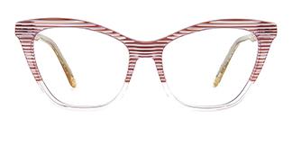 B2926 melissa Cateye pink glasses