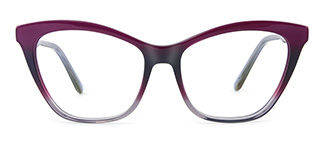 B2926 melissa Cateye purple glasses