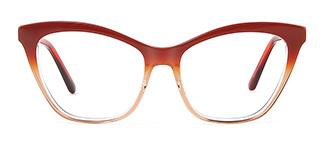 B2926 melissa Cateye red glasses