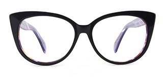 B2928 deborah Cateye purple glasses