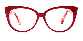 B2928 deborah Cateye red glasses