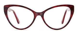 B2929 miranda Cateye red glasses
