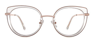 B610 Regan Cateye clear glasses