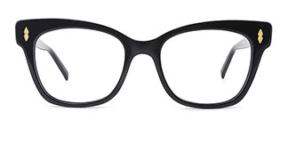 C1058 miriam Rectangle black glasses